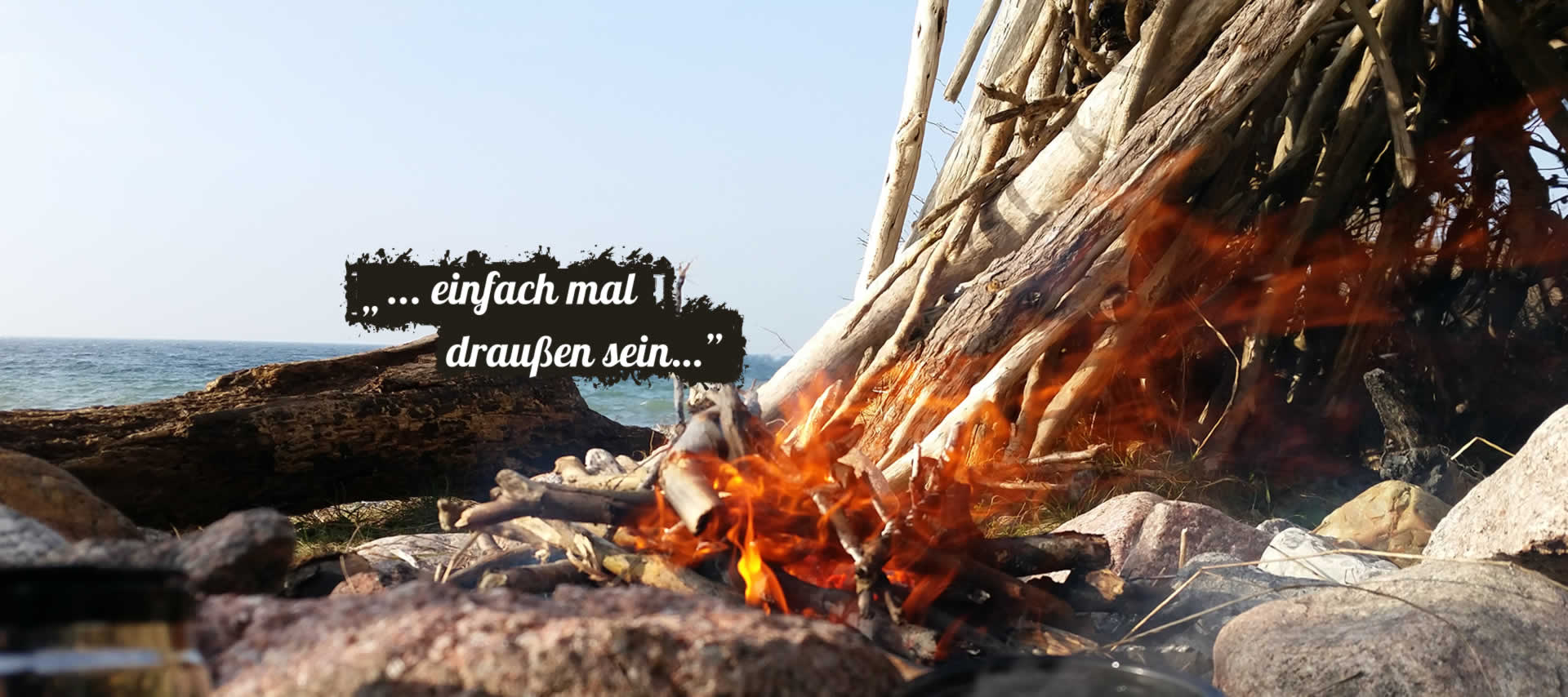 Lagerfeuer am Meer