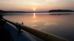 Angeln bis zum Sonnenuntergang
